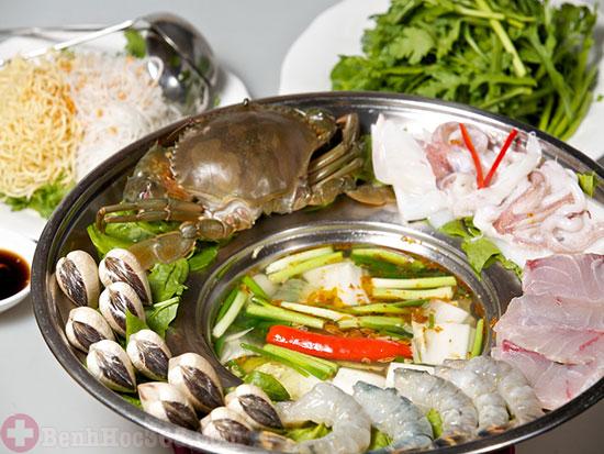 xuất tinh sớm nên ăn gì - hải sản