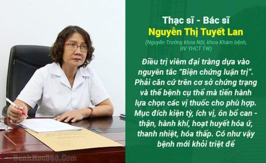 Bác sĩ Tuyết Lan chia sẻ về chữa viêm đại tràng