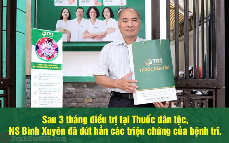 NS Bình Xuyên cũng là một trong những bệnh nhân của bác sĩ Tuyết Lan tại Thuốc dân tộc