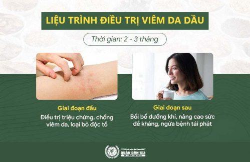 Liệu trình hỗ trợ điều trị viêm da dầu