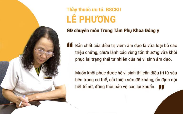 Bác sĩ Lê Phương chia sẻ về nguyên tắc điều trị viêm âm đạo bền vững, ngăn ngừa tái phát