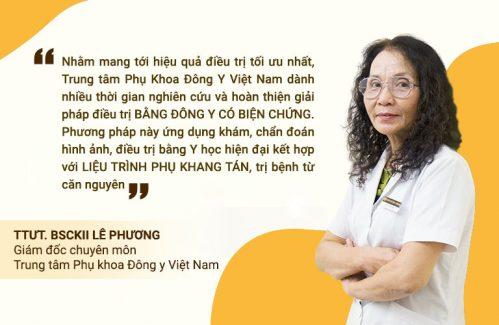 Bác sĩ Lê Phương chia sẻ về phương pháp Đông y có biện chứng tại Trung tâm Phụ Khoa Đông y Việt Nam